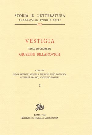 copertina di Vestigia