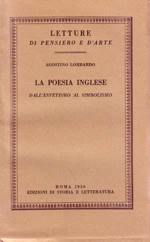 copertina di La poesia inglese dall'estetismo al simbolismo