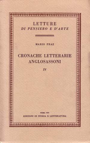 copertina di Cronache letterarie anglosassoni. IV