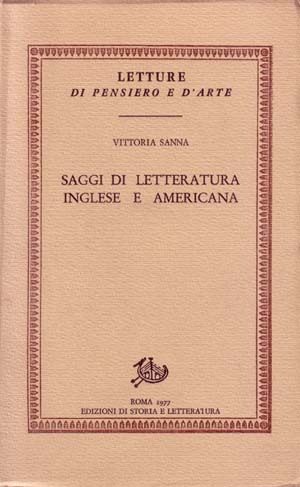 copertina di Saggi di letteratura inglese e americana