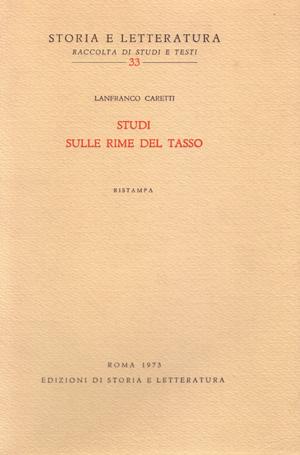 copertina di Studi sulle Rime del Tasso