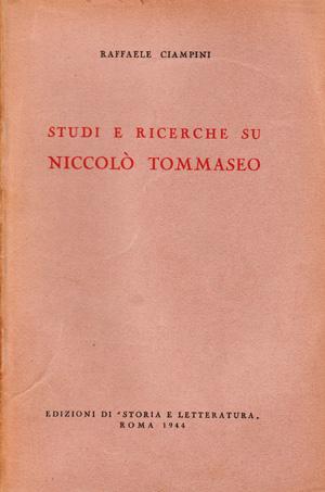 copertina di Studi e ricerche su Niccolò Tommaseo