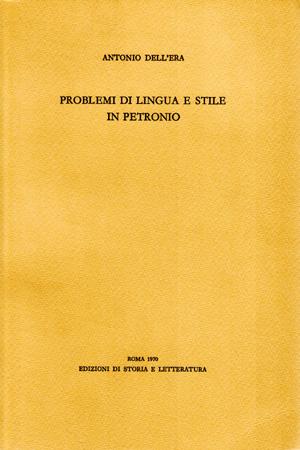 copertina di Problemi di lingua e stile in Petronio