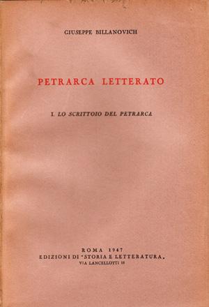 copertina di Petrarca letterato