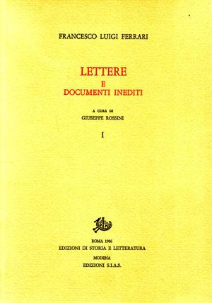 copertina di Lettere e documenti inediti