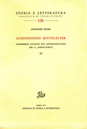 copertina di Ausgehendes Mittelalter. III