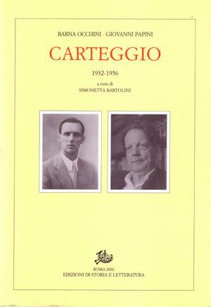 copertina di Carteggio 1932-1956