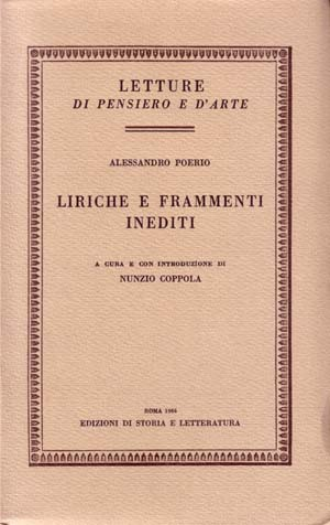 copertina di Liriche e frammenti inediti