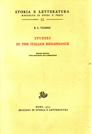 copertina di Studies in the Italian Renaissance