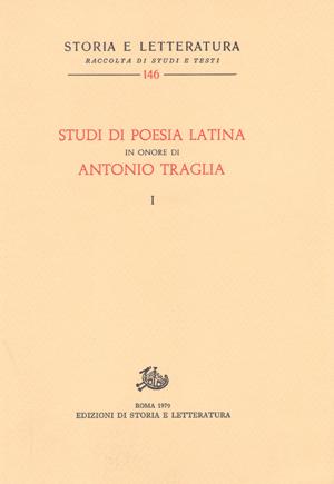 copertina di Studi di poesia latina in onore di Antonio Traglia