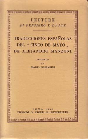 copertina di Traducciones españolas del «Cinco de Mayo» de Alejandro Manzoni