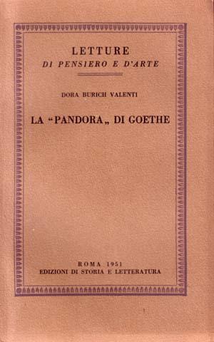 copertina di La «Pandora» di Goethe
