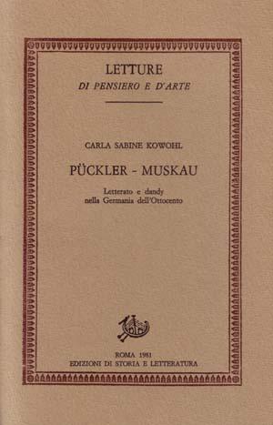 copertina di Pückler-Muskau letterato e dandy nella Germania dell'Ottocento