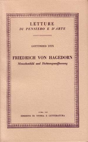 copertina di Friedrich von Hagedorn