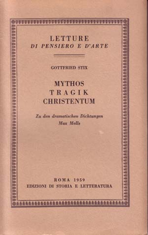 copertina di Mythos, Tragik, Christentum