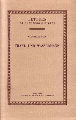 copertina di Trakl und Wassermann
