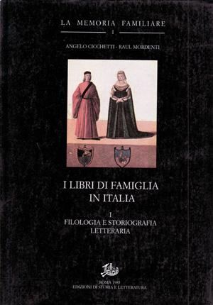 copertina di I libri di famiglia in Italia. I