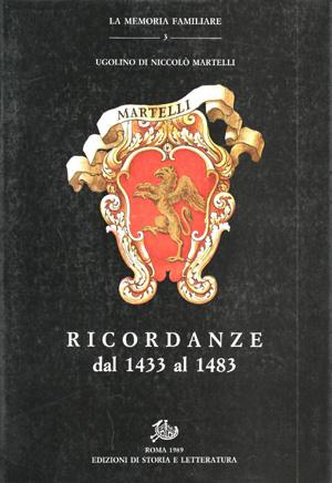 copertina di Ricordanze dal 1433 al 1483
