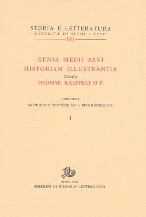 copertina di Xenia Medii Aevi Historiam Illustrantia