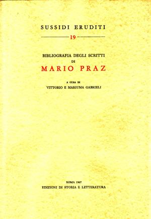 copertina di Bibliografia degli scritti di Mario Praz