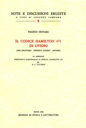 copertina di Il codice Hamilton 471 di Ovidio
