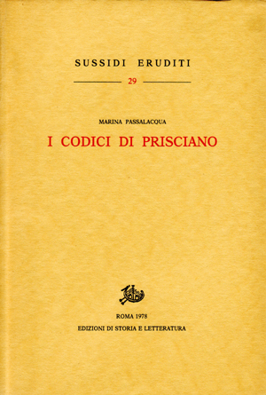 copertina di I codici di Prisciano