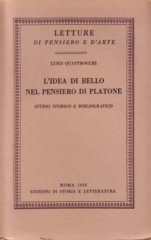 copertina di L'idea di bello nel pensiero di Platone