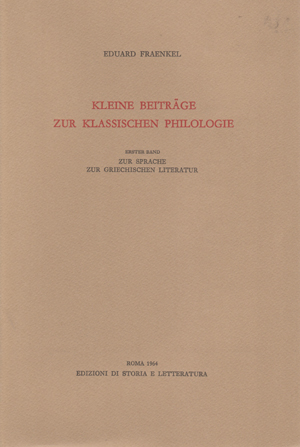 copertina di Kleine Beiträge zur klassischen Philologie