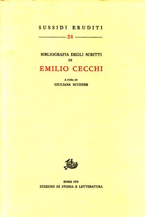 copertina di Bibliografia degli scritti di Emilio Cecchi