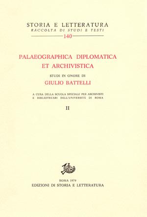 copertina di Palaeographica Diplomatica et Archivistica