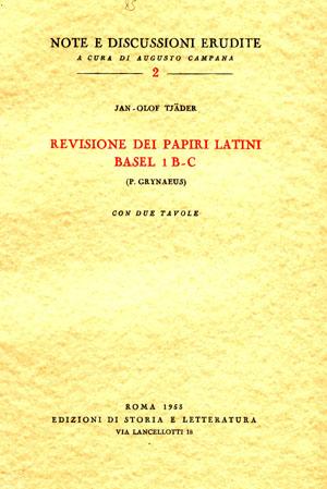 copertina di Revisione dei papiri latini Basel 1 B-C