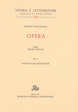 copertina di Opera, vol. I