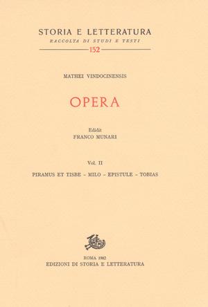 copertina di Opera, vol. II