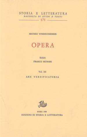 copertina di Opera, vol. III
