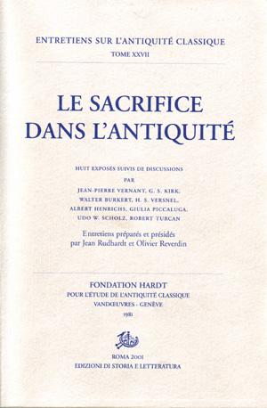 copertina di Le sacrifice dans l'antiquité