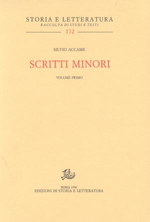 copertina di Scritti minori