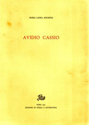 copertina di Avidio Cassio