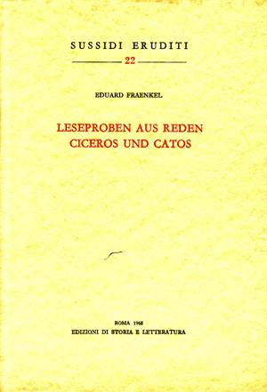 copertina di Leseproben aus Reden Ciceros und Catos