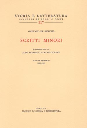 copertina di Scritti minori, II