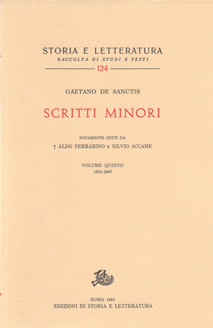 copertina di Scritti minori, IV