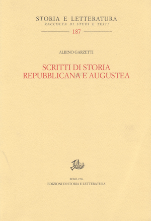 copertina di Scritti di storia repubblicana e augustea