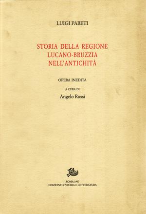 copertina di Storia della regione lucano-bruzzia nell'antichità. I