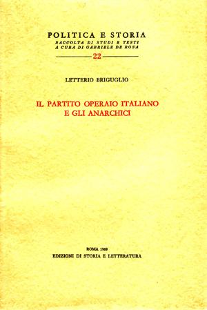 copertina di Il Partito operaio italiano e gli anarchici