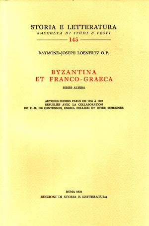 copertina di Byzantina et Franco-Graeca. Series altera