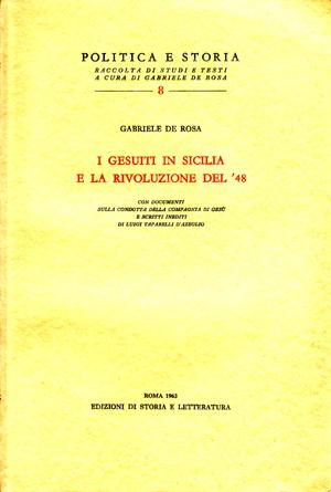copertina di I gesuiti in Sicilia e la rivoluzione del '48