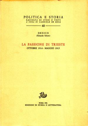 copertina di La passione di Trieste