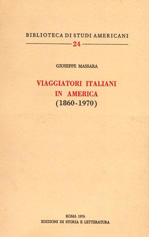 copertina di Viaggiatori italiani in America (1860-1970)
