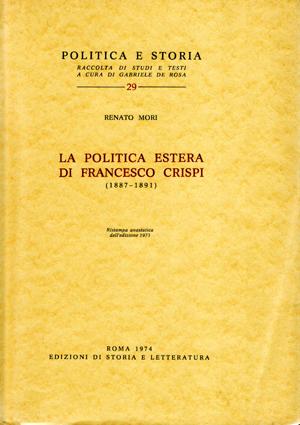 copertina di La politica estera di Francesco Crispi (1887-1891)