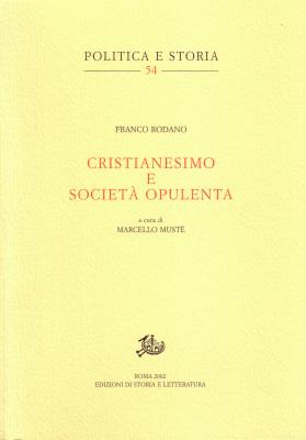 copertina di Cristianesimo e società opulenta