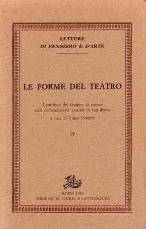 copertina di Le forme del teatro. IV